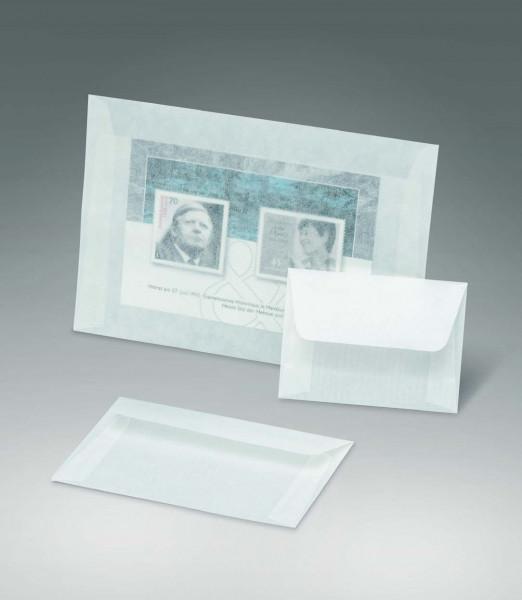 Kuverts aus Pergamin, 114 x 81 + 35 mm Klappe