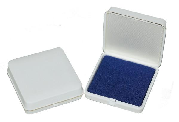 Patent-Etui 40 x 40 mm weiß/blau