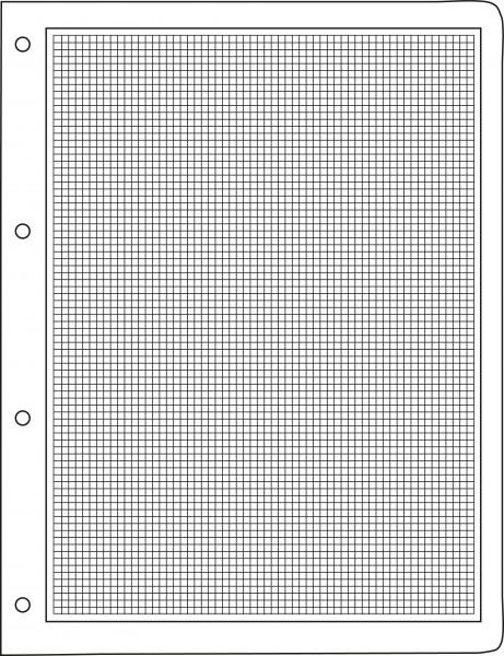 Rahmen und Rasterfeld, 4-Ring-Lochung, 215 x 280 mm, 25 Stück