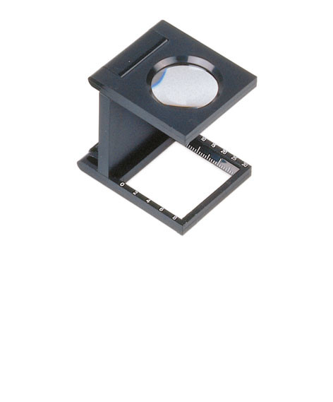 Fadenzähler 5x, ∅ 23 mm, mit bikonvexer Leichtlinse