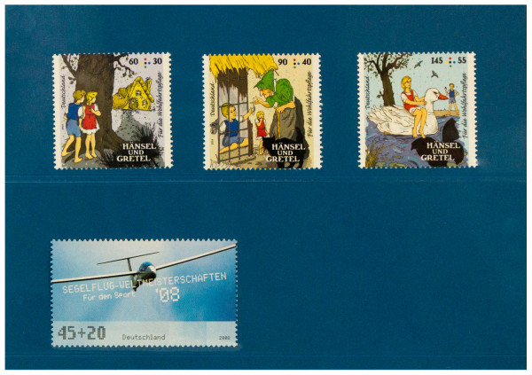Prinz-System Steckkarten, 2 Streifen, blau, 156 x 112 mm, 2 Polyesterstreifen, 100 Stück