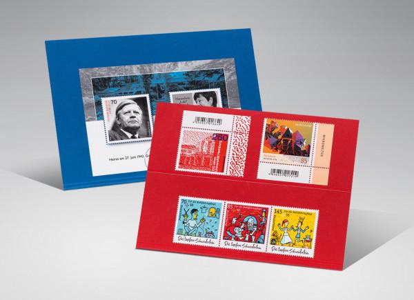 Premium Steckkarten, blau, 1 Polyesterstreifen, 156 x 112 mm, 100 Stück