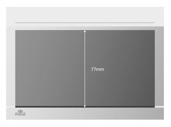 Prinz-System Steckkarten, 1 Streifen, weiß, 156 x 112 mm, 1 Polyesterstreifen, 100 Stück