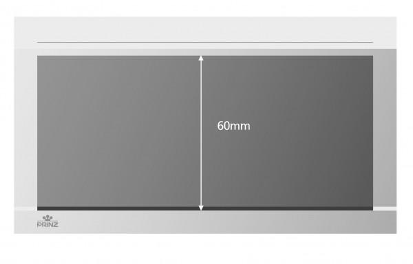 Prinz-System Steckkarten, 1 Streifen, weiß, 148 x 84 mm, 1 Polyesterstreifen, 100 Stück