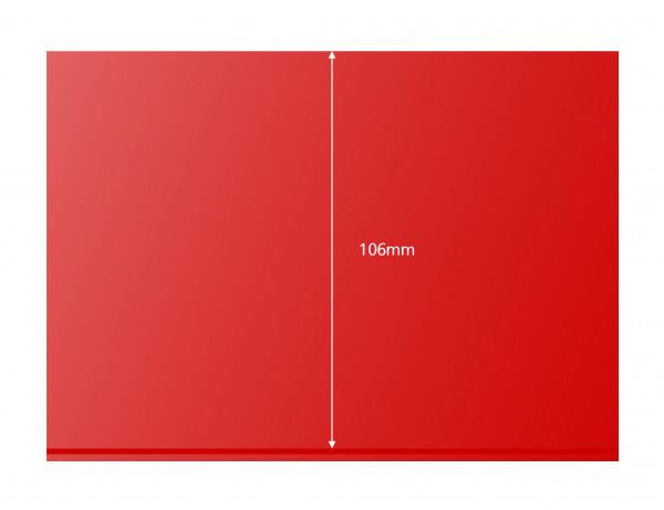 Prinz-System Steckkarten, 1 Streifen, rot, 156 x 112 mm, 1 Polyesterstreifen, 100 Stück