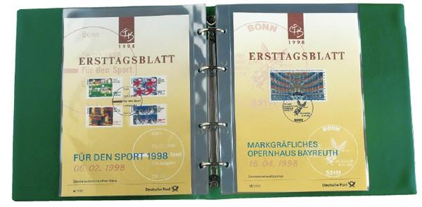 Ersttagsblatt-Album, ungeteilt