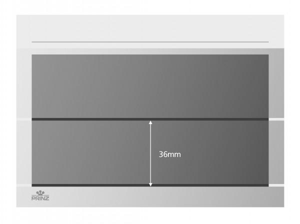Prinz-System Steckkarten, 2 Streifen, weiß, 156 x 112 mm, 2 Polyesterstreifen, 100 Stück