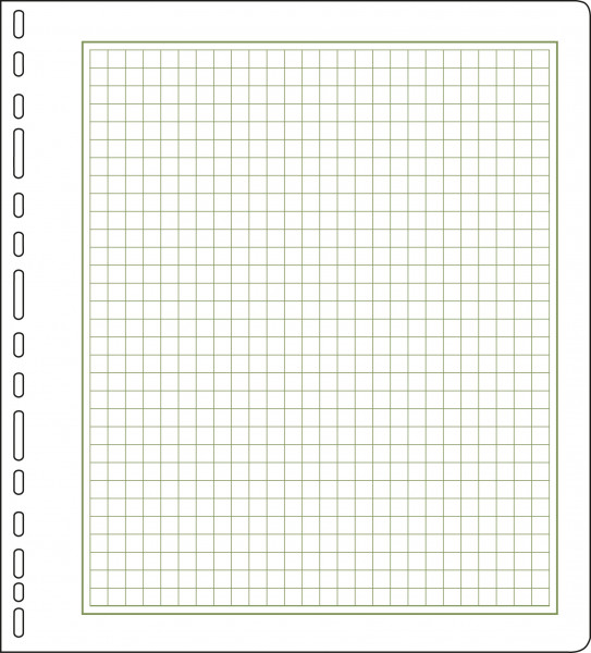 Universallochung, Rahmen und Rasterfeld, 267 x 295 mm, 25 Stück