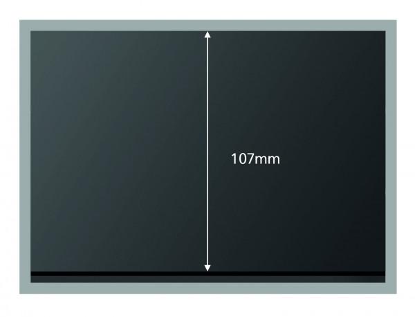 Premium Steckkarten, schwarz, 1-3 Polyesterstreifen, 156 x 112 mm, 100 Stück