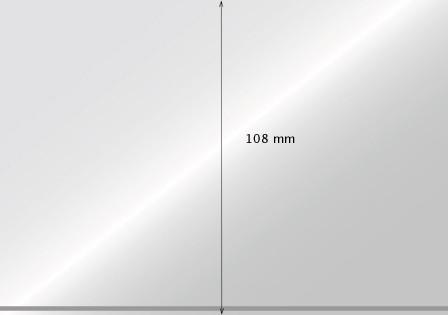 Steckkarten kristallklar, 1 - 4 Streifen, 100 Stück