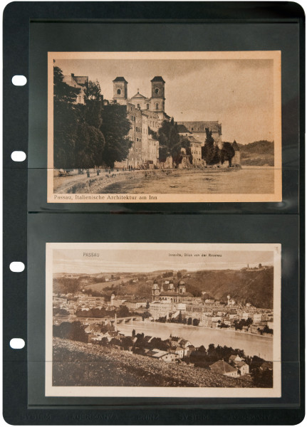 Postkarten Albenblätter, doppelseitig