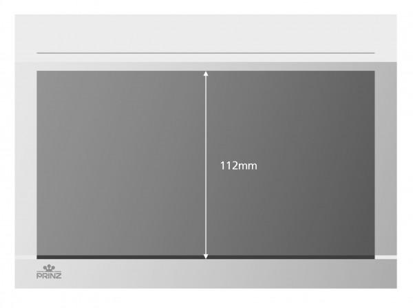 Prinz-System Steckkarten, 1 Streifen, weiß, 210 x 148 mm, 1 Polyesterstreifen, 50 Stück
