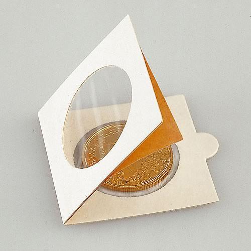 50 Stück sortierte selbstklebende Münzklappen