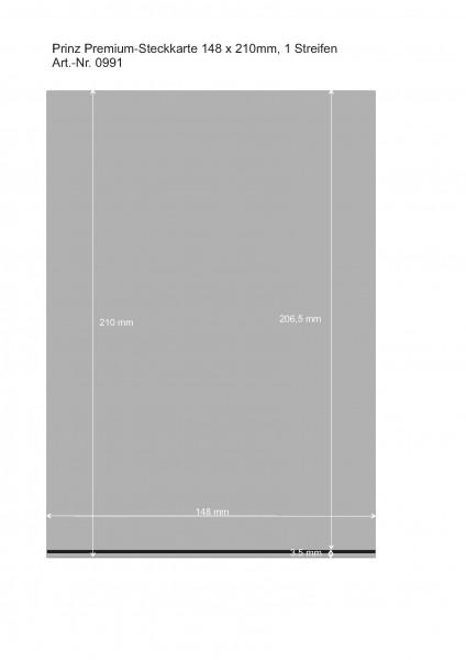 Premium Steckkarten, schwarz, 1-5 Polyesterstreifen, 148 x 210 mm, 50 Stück