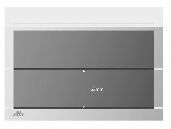 Prinz-System Steckkarten, 2 Streifen, weiß, 210 x 148 mm, 2 Polyesterstreifen, 50 Stück